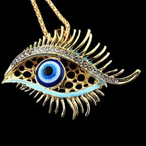 3D Turkish Evil Eye Posh Pendant NWT-